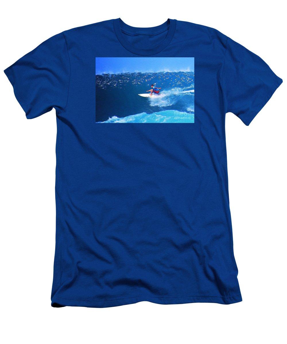 Professional-surfer-surfers Men's T-Shirt (Athletic Fit) featuring the photograph Pro Surfer Ezekiel Lau-3 by Scott Cameron
