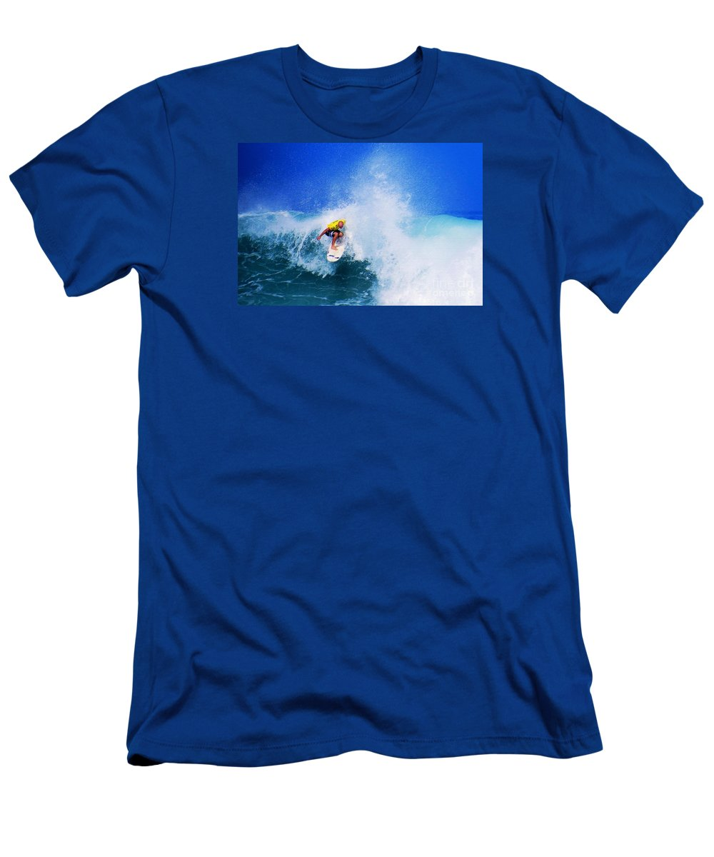 Professional-surfer-surfers Men's T-Shirt (Athletic Fit) featuring the photograph Pro Surfer-nathan Hedge-4 by Scott Cameron