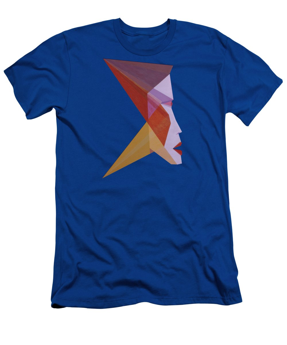 Painting T-Shirt featuring the painting Profile W. by Michael Bellon