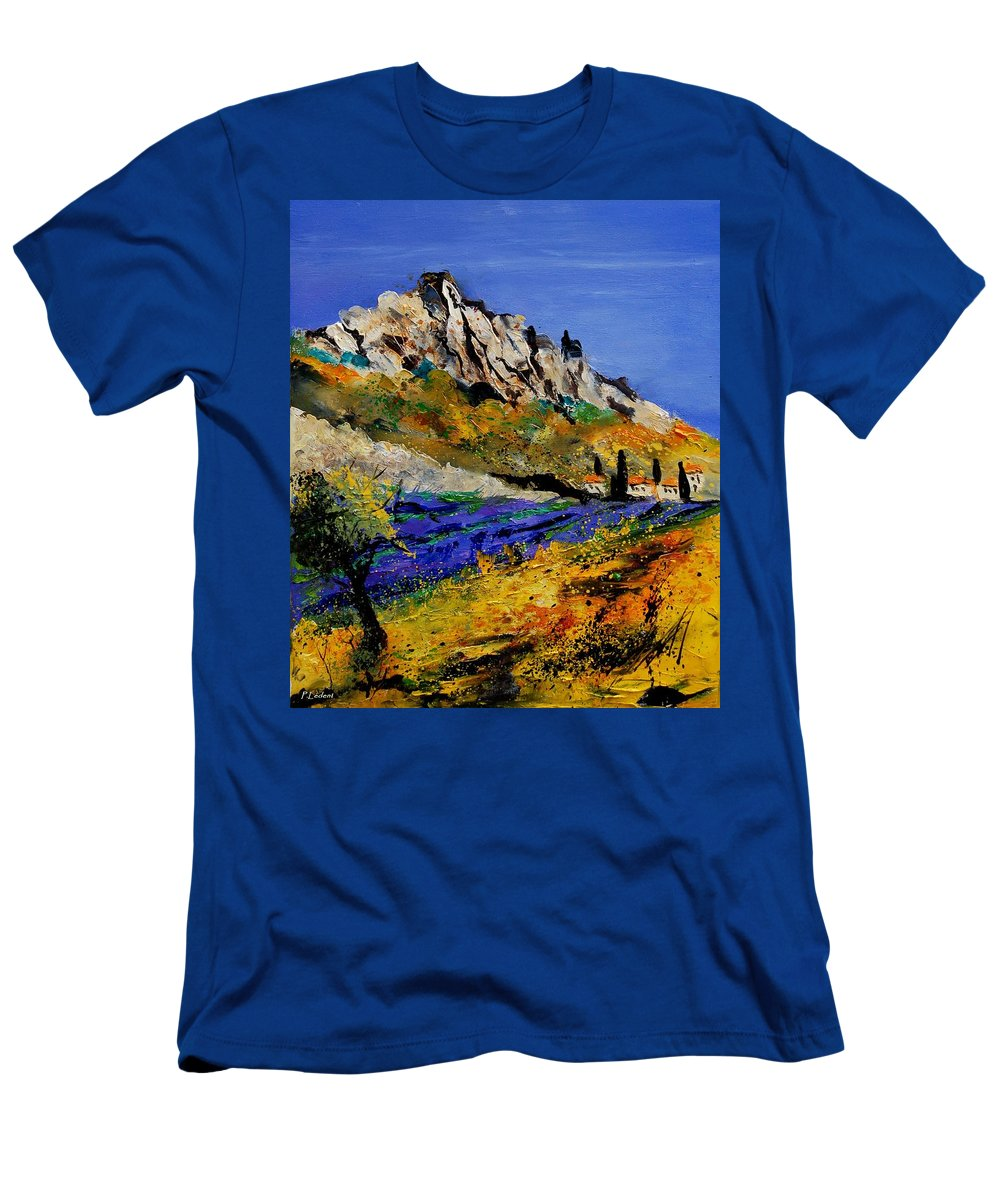 Flowers Men's T-Shirt (Athletic Fit) featuring the painting Provence 560908 by Pol Ledent