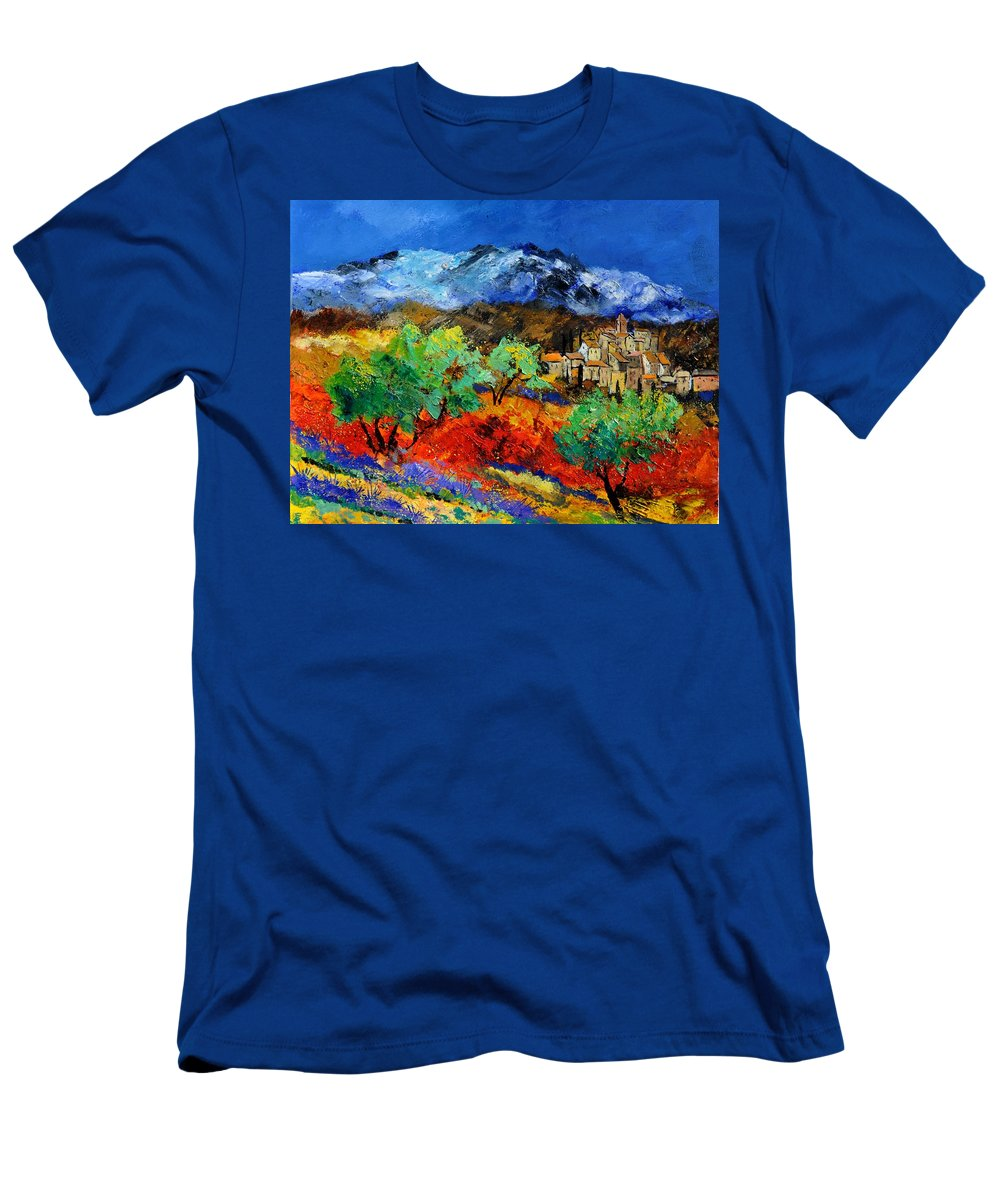 Landscape T-Shirt featuring the painting Provence 790050 by Pol Ledent