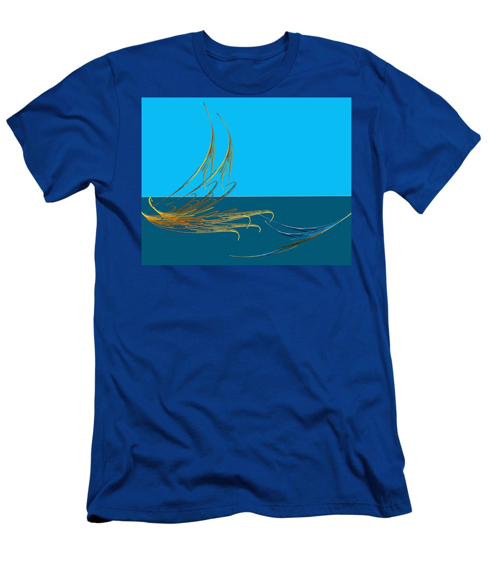 Fine Art Men's T-Shirt (Athletic Fit) featuring the digital art Racers by David Lane