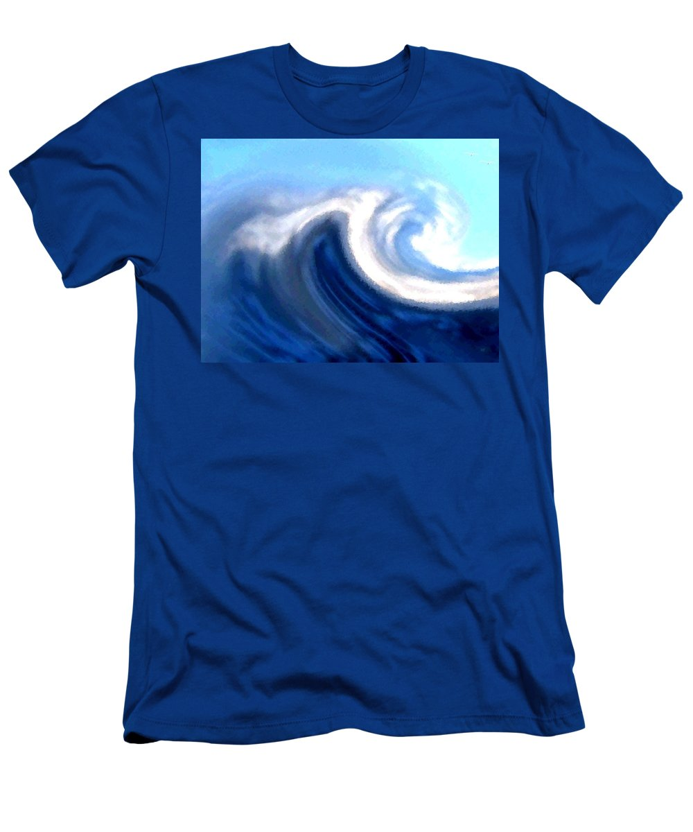 Abstract Men's T-Shirt (Athletic Fit) featuring the digital art Raging Sea by Will Borden