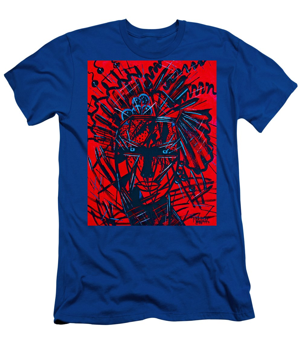 Abstract Men's T-Shirt (Athletic Fit) featuring the painting Red Exotica by Natalie Holland