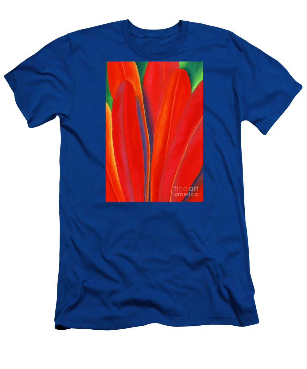 Red T-Shirt featuring the painting Red Petals by Lucy Arnold