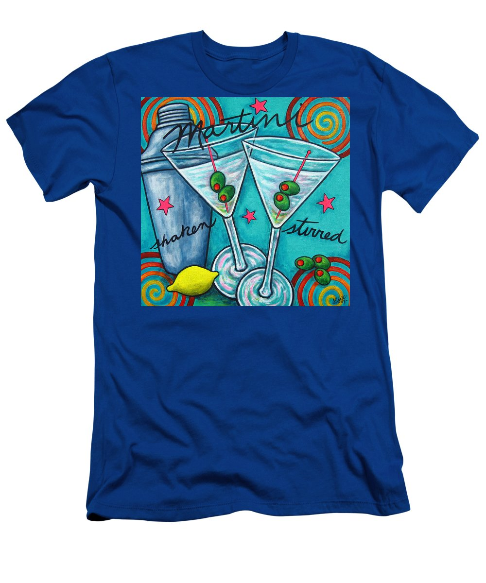 Alcohol T-Shirt featuring the painting Retro Martini by Lisa Lorenz