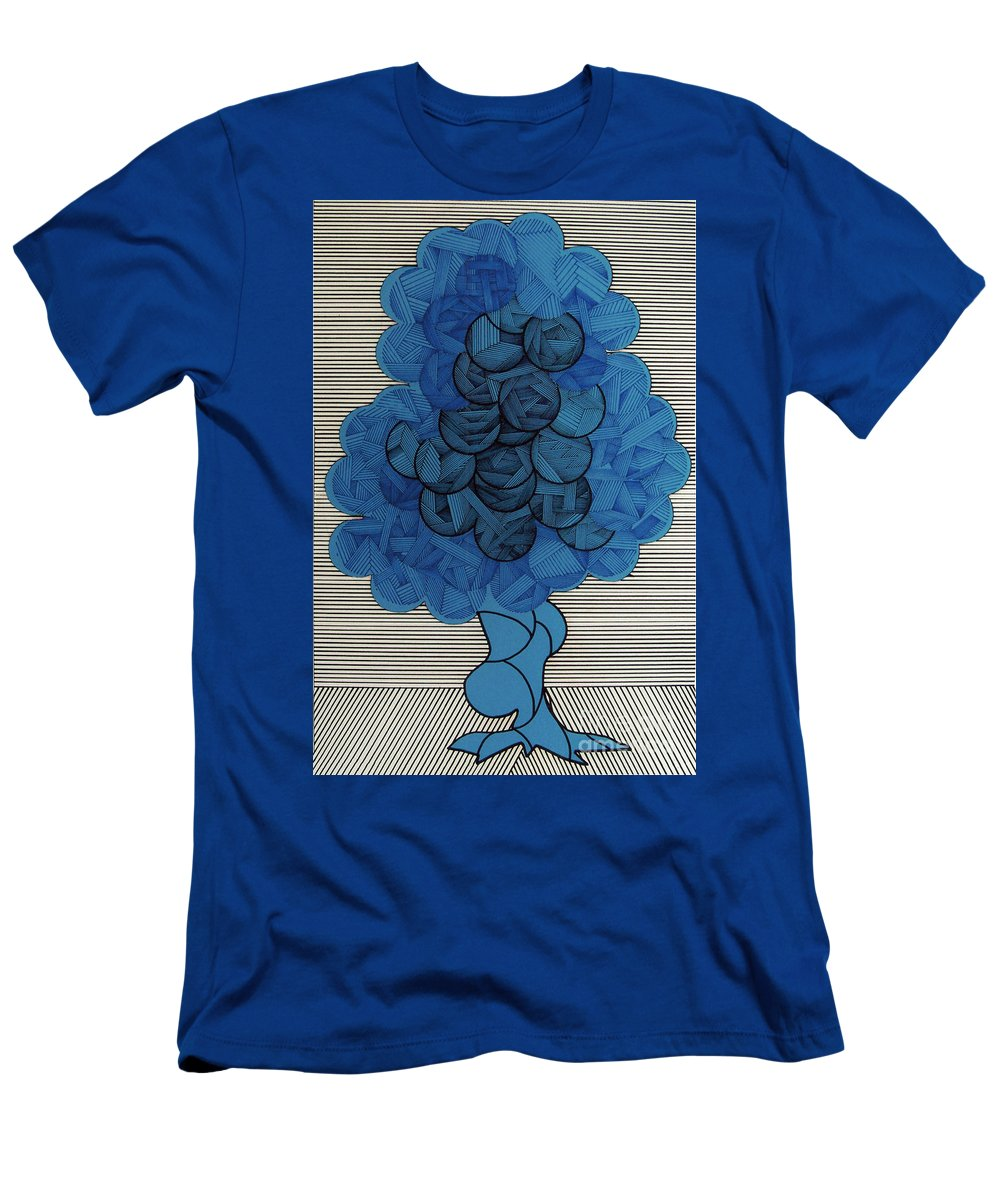 Apple Tree Men's T-Shirt (Athletic Fit) featuring the drawing Rfb0505 by Robert F Battles