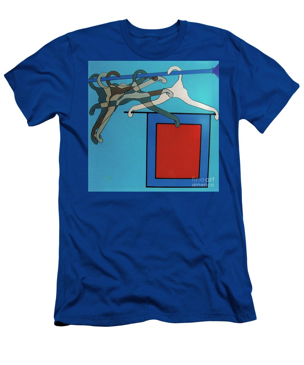 Hangin Space Men's T-Shirt (Athletic Fit) featuring the drawing Rfb0926 by Robert F Battles