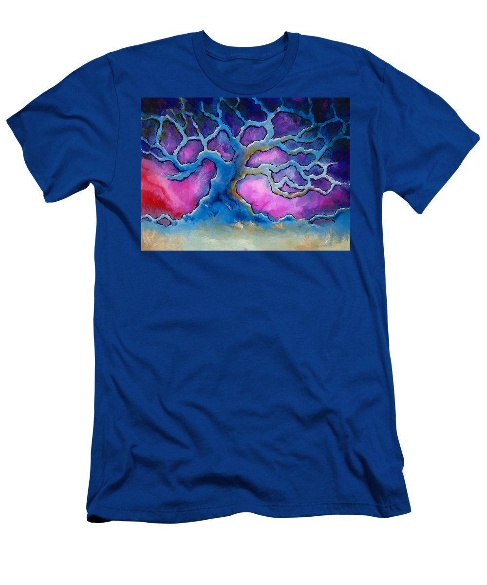 Landscape Men's T-Shirt (Athletic Fit) featuring the painting Ria by Jennifer McDuffie