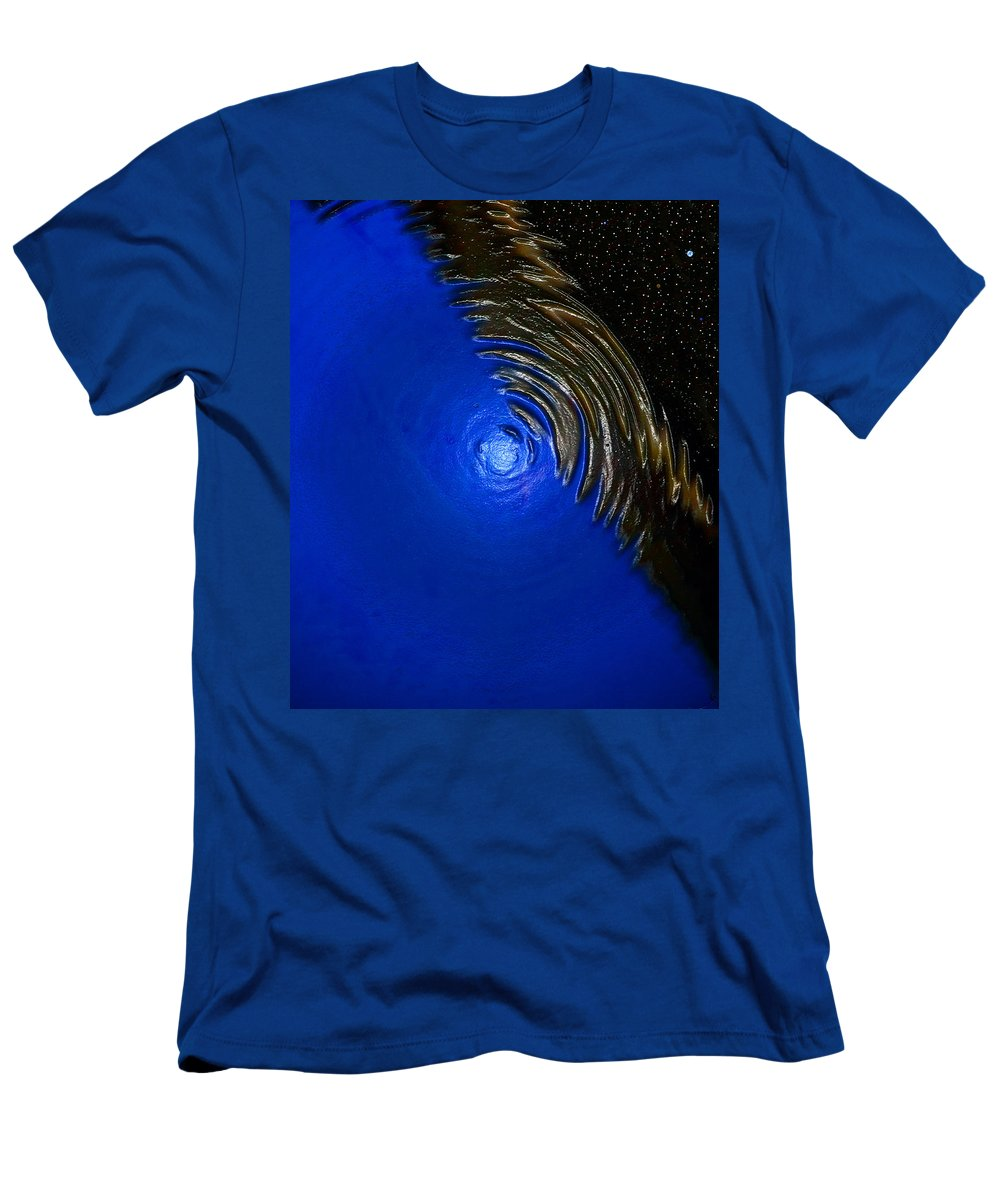 Ripples Of Time And Space Men's T-Shirt (Athletic Fit) featuring the painting Ripples Of Time And Space by David Lee Thompson