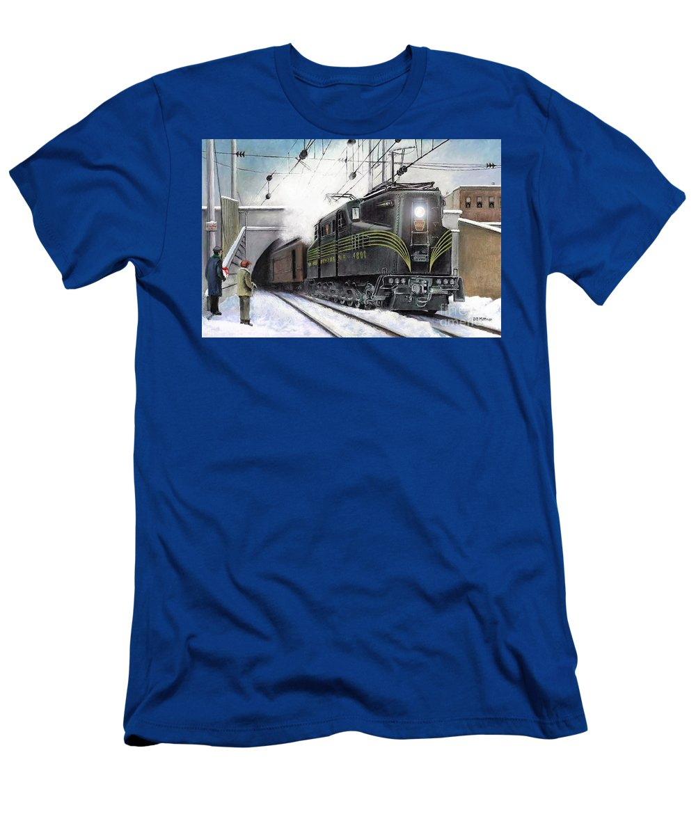 Pennsylvania Railroad T-Shirt featuring the painting Rivets by David Mittner