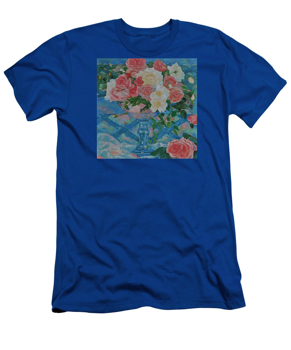 Roses T-Shirt featuring the painting Roses by Iliyan Bozhanov