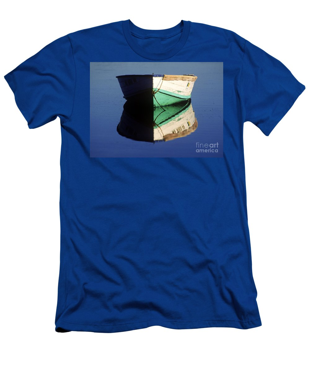 Cape Cod Men's T-Shirt (Athletic Fit) featuring the photograph Rowboat by John Greim