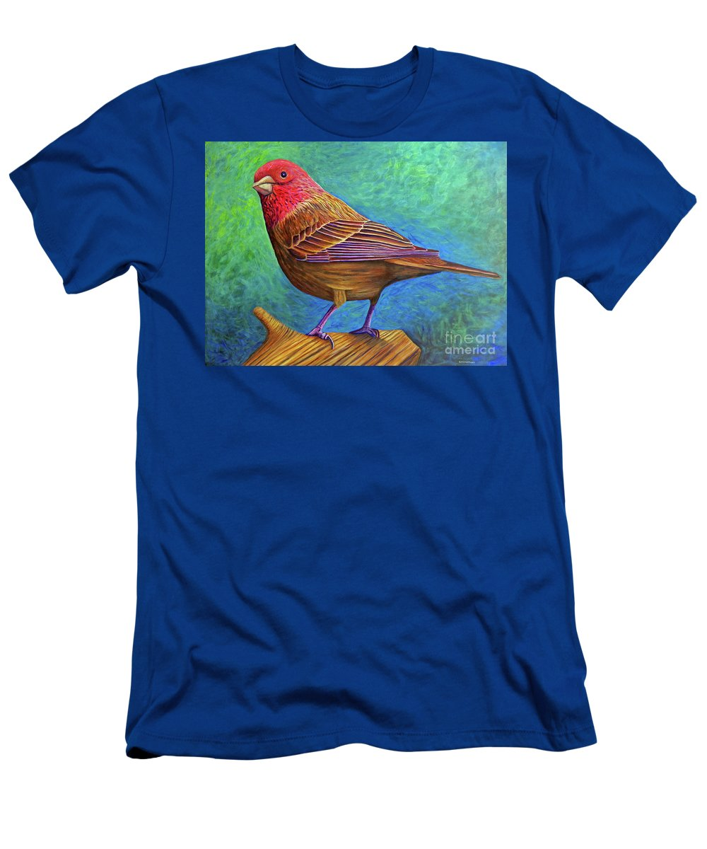Bird Men's T-Shirt (Athletic Fit) featuring the painting Sacred Space by Brian Commerford