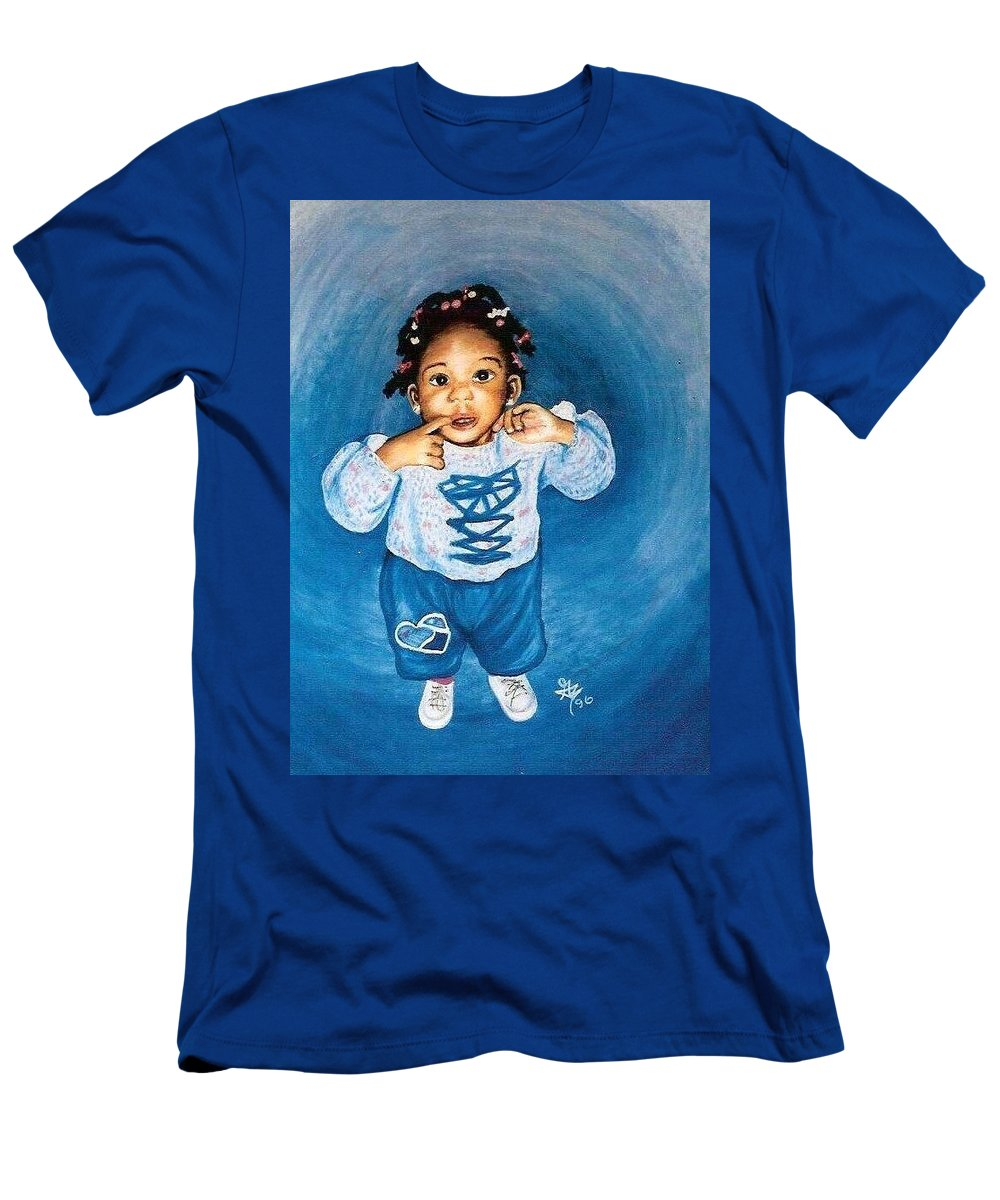 Child Men's T-Shirt (Athletic Fit) featuring the pastel Sadie by Gale Cochran-Smith