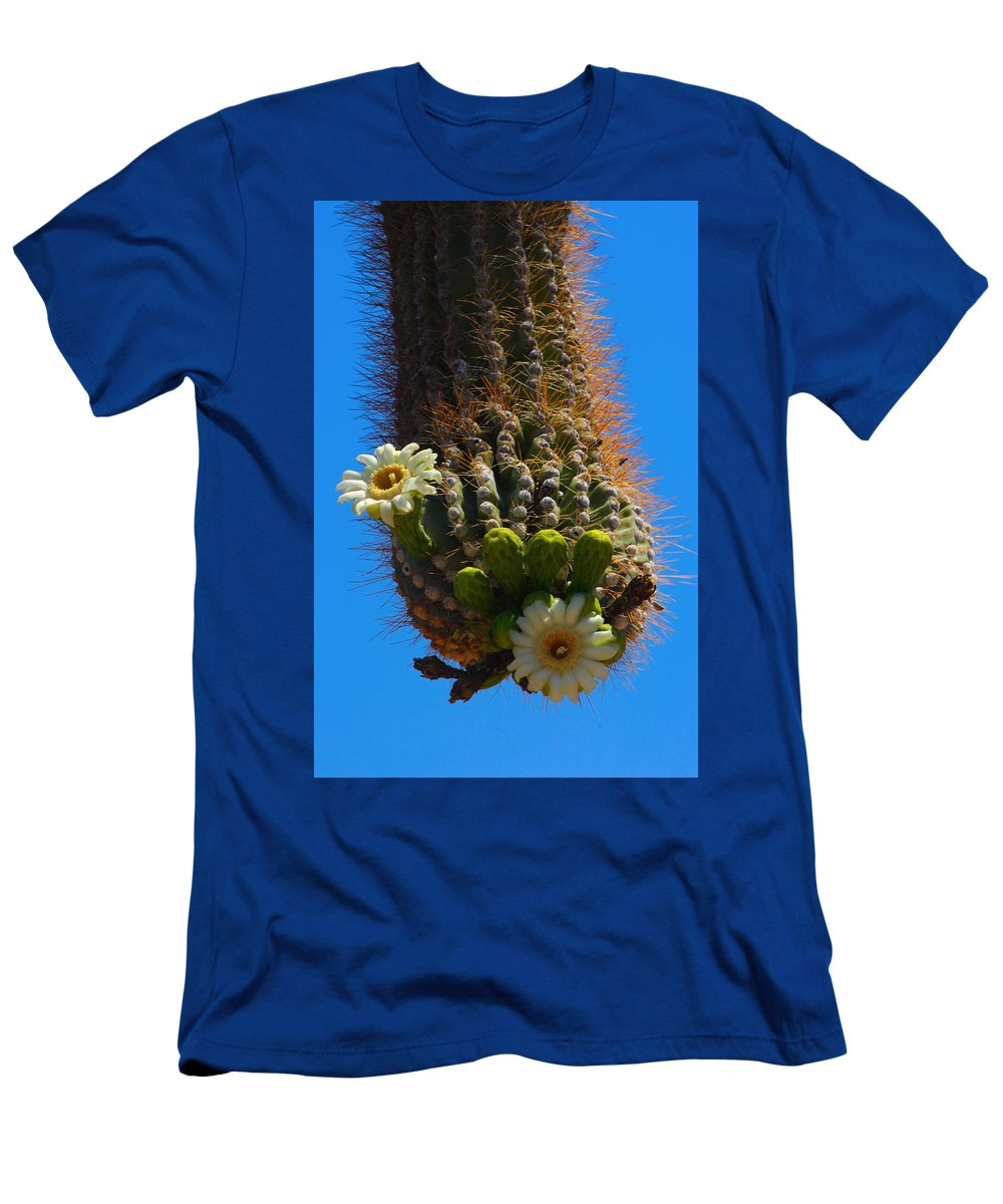 Saguaro Men's T-Shirt (Athletic Fit) featuring the photograph Saguaro Elephant Trunk by James BO Insogna