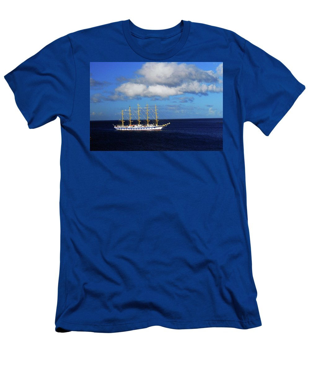 Sailboat Men's T-Shirt (Athletic Fit) featuring the photograph Sail Away by Gary Wonning