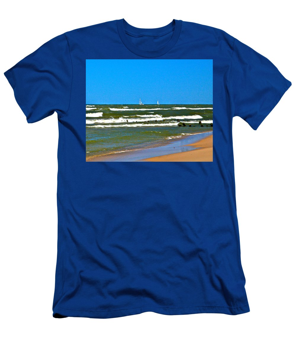 Water Men's T-Shirt (Athletic Fit) featuring the photograph Sailing Away by Robert Pearson