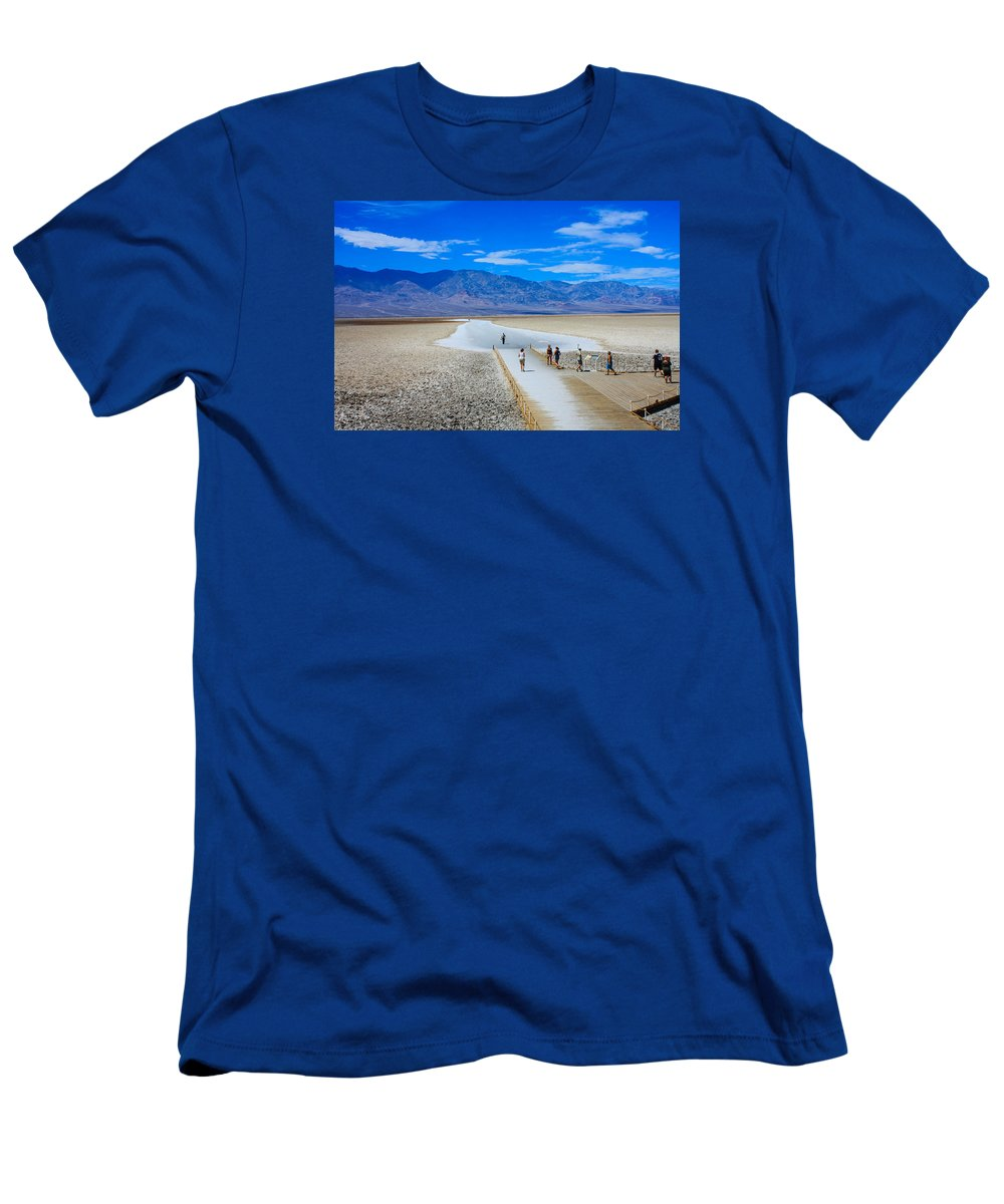 Photo Of Death Valley Men's T-Shirt (Athletic Fit) featuring the photograph Salt Stretch by William Rogers