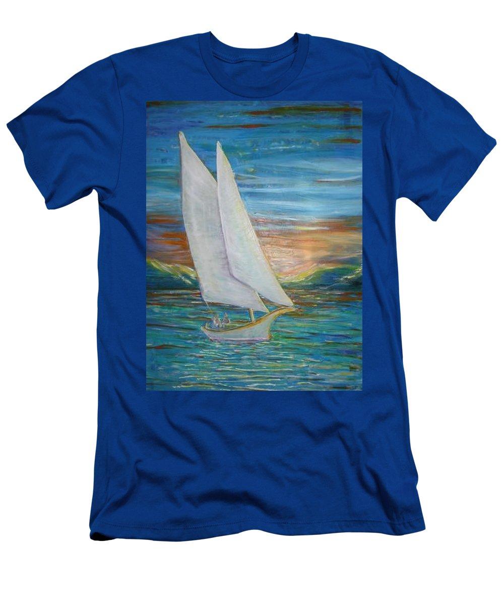 Sailboat T-Shirt featuring the painting Saturday Sail by Regina Walsh