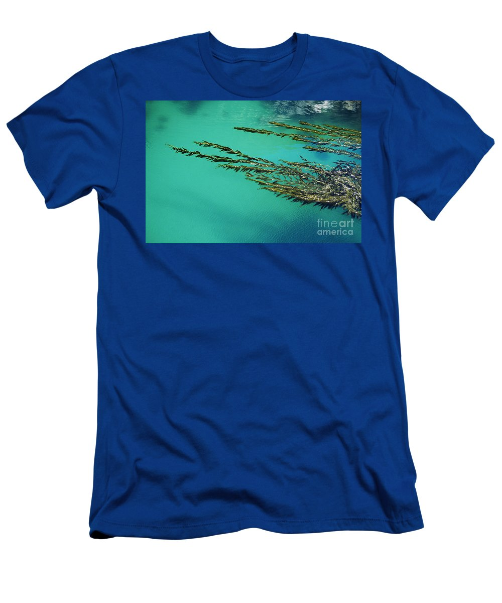 Abstract Men's T-Shirt (Athletic Fit) featuring the photograph Seaweed Patterns by Larry Dale Gordon - Printscapes