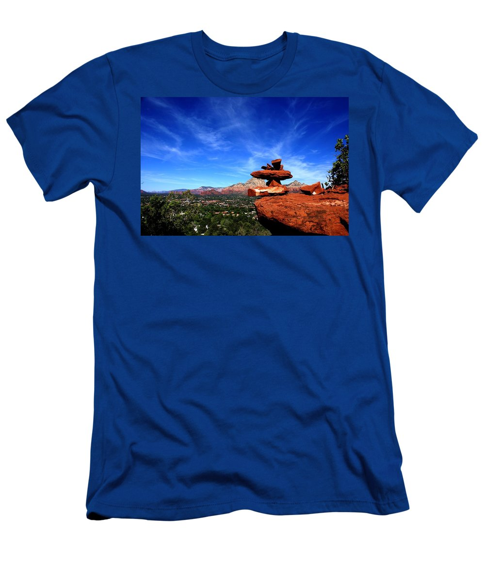 Photograph Men's T-Shirt (Athletic Fit) featuring the photograph Sedona Airport Vortex by The Art With A Heart By Charlotte Phillips