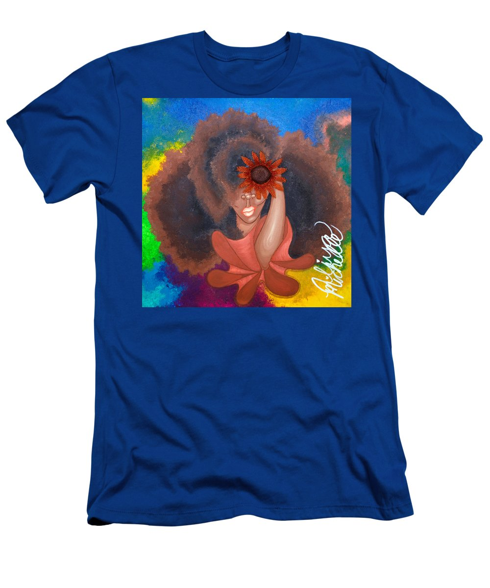 Aliya Michelle Men's T-Shirt (Athletic Fit) featuring the painting See No Evil by Aliya Michelle
