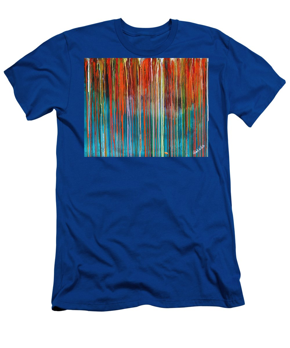 Fusionart T-Shirt featuring the painting Seed by Ralph White