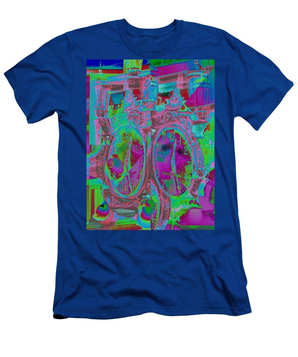 Clock Men's T-Shirt (Athletic Fit) featuring the digital art Sidewalk Timepiece by Tim Allen