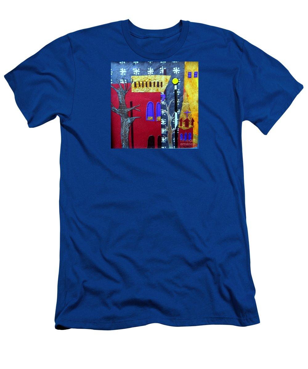 City T-Shirt featuring the mixed media Snowstorm Backbay by Debra Bretton Robinson
