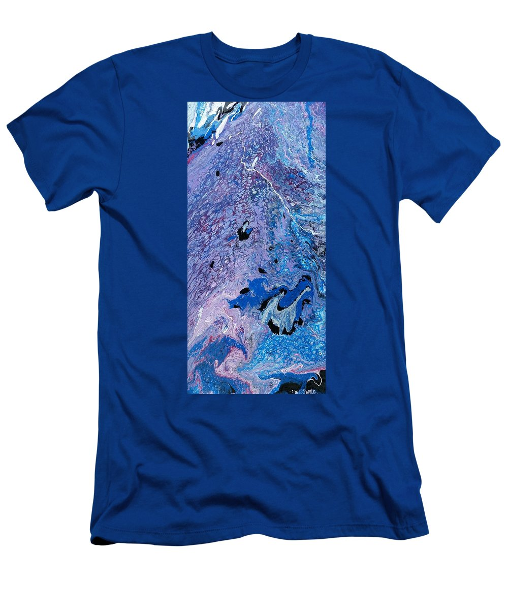 Blue Flow Movement T-Shirt featuring the painting So patriotic by Valerie Josi