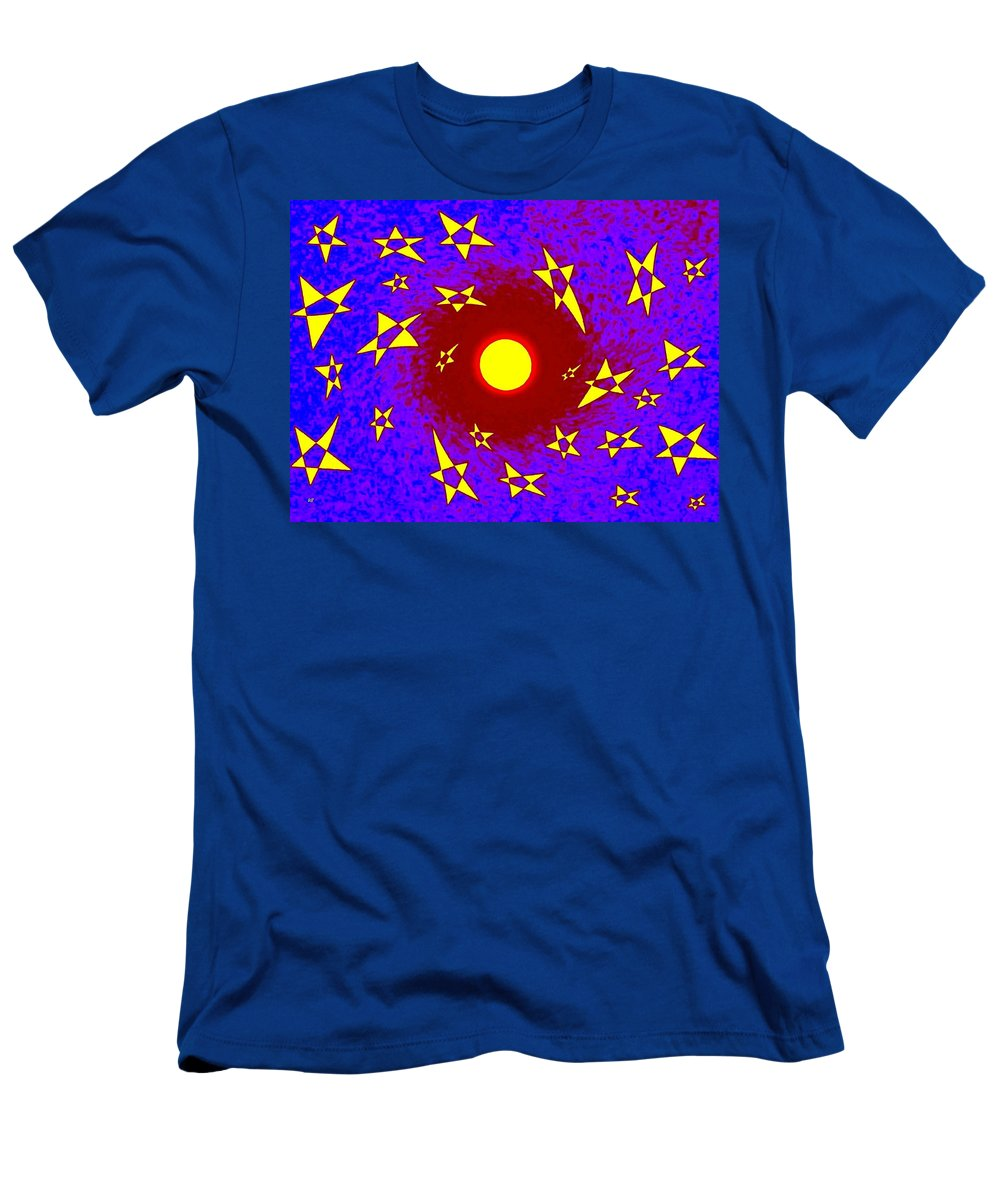 Sun Men's T-Shirt (Athletic Fit) featuring the digital art Solar Radiation by Will Borden