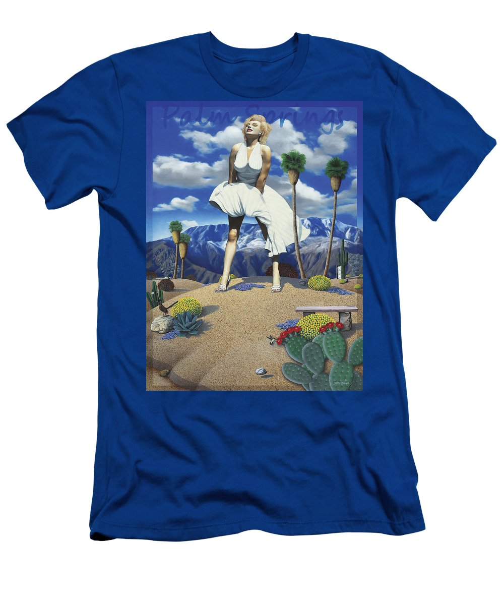Marilyn T-Shirt featuring the painting Some Like it Hot by Snake Jagger