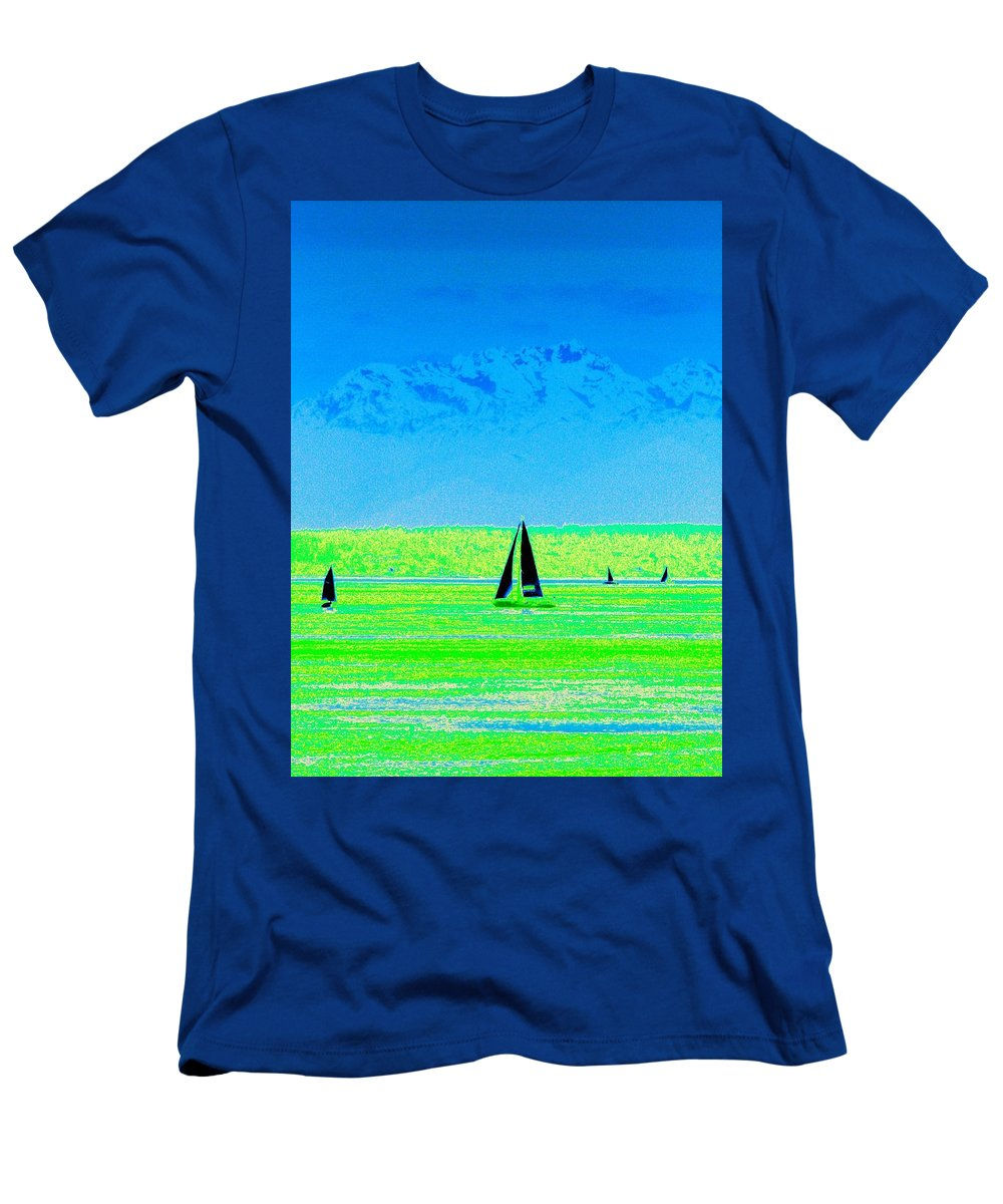 Sail Men's T-Shirt (Athletic Fit) featuring the photograph Sound Sailin by Tim Allen