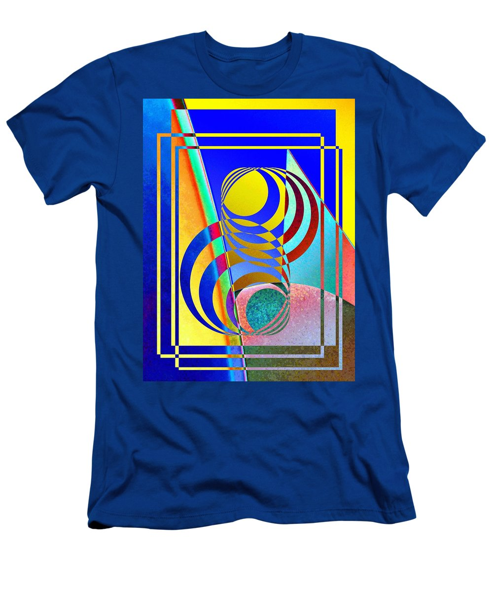 Abstract Men's T-Shirt (Athletic Fit) featuring the digital art Soundings by Tim Allen