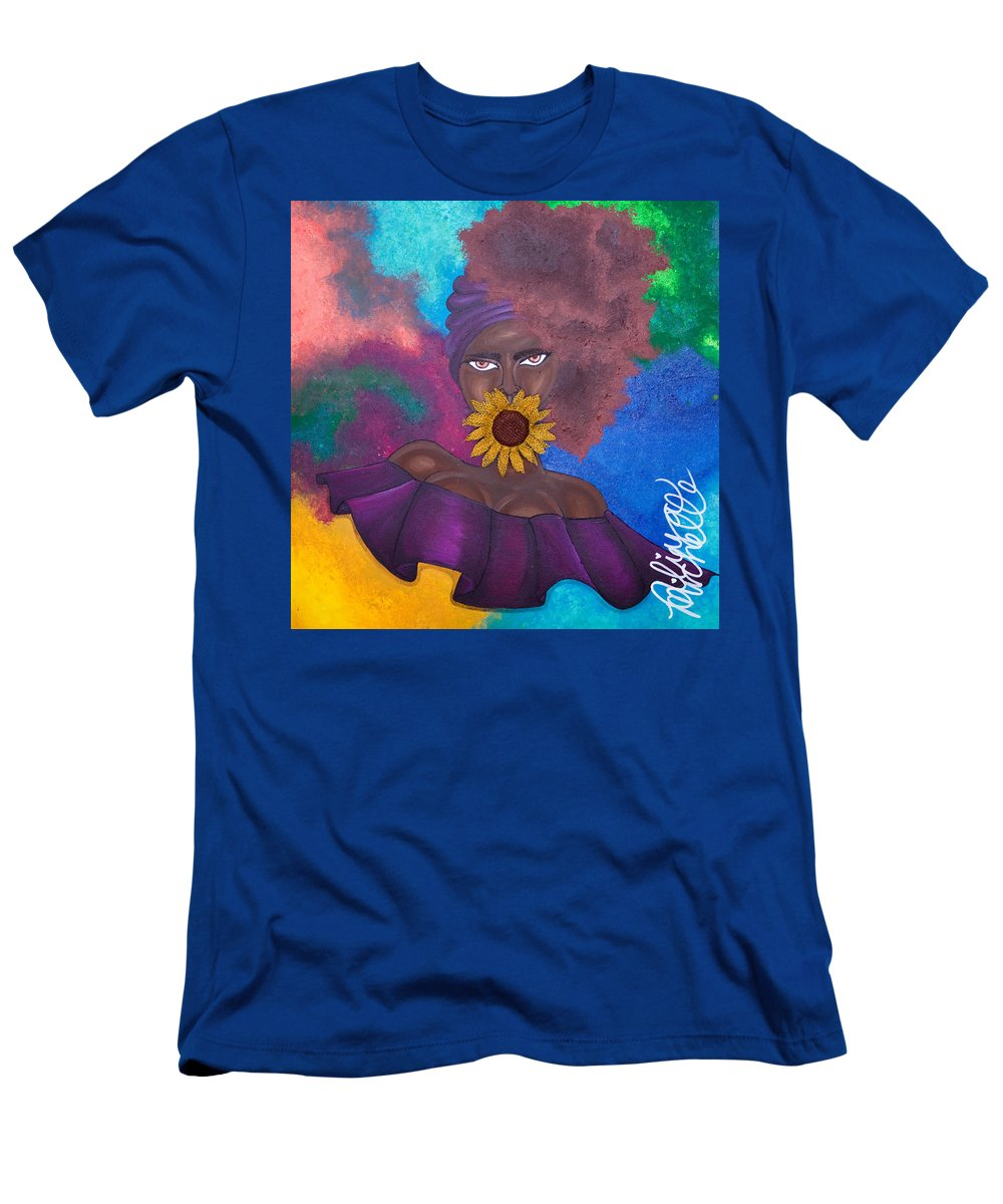 Aliya Michelle Men's T-Shirt (Athletic Fit) featuring the painting Speak No Evil by Aliya Michelle