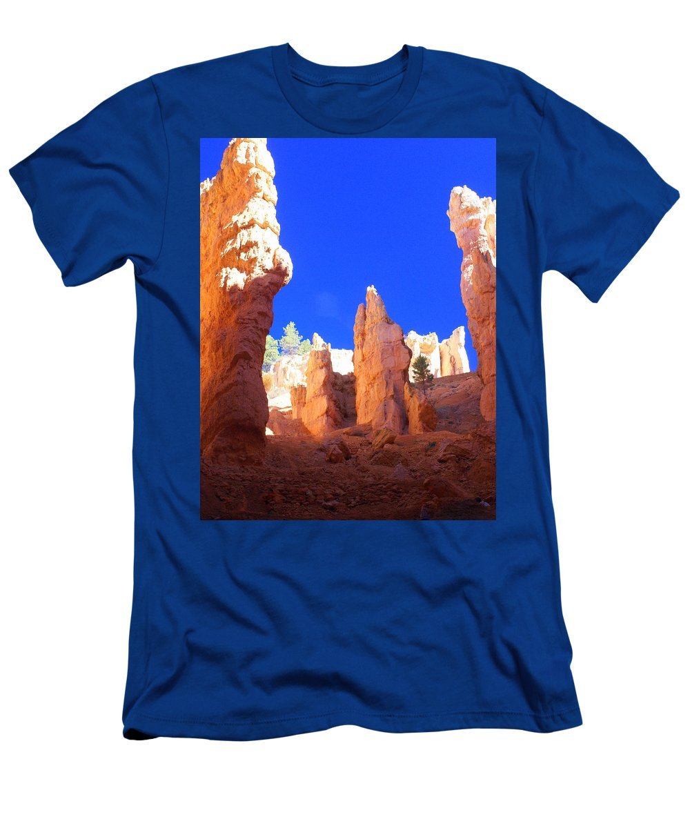 Bryce Canyon National Park Men's T-Shirt (Athletic Fit) featuring the photograph Spires by Marty Koch