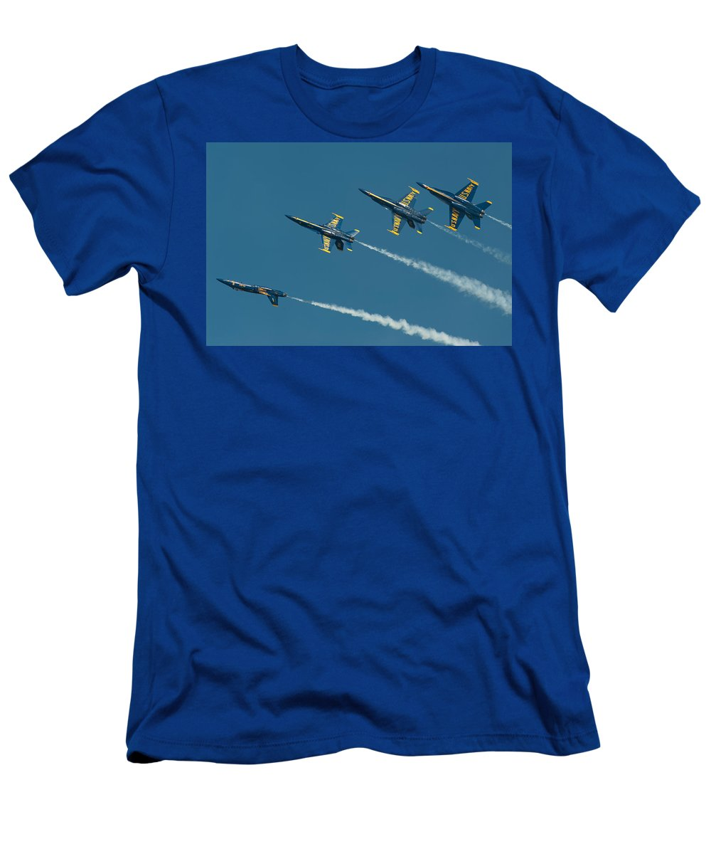 Us Navy Men's T-Shirt (Athletic Fit) featuring the photograph Split by Sebastian Musial