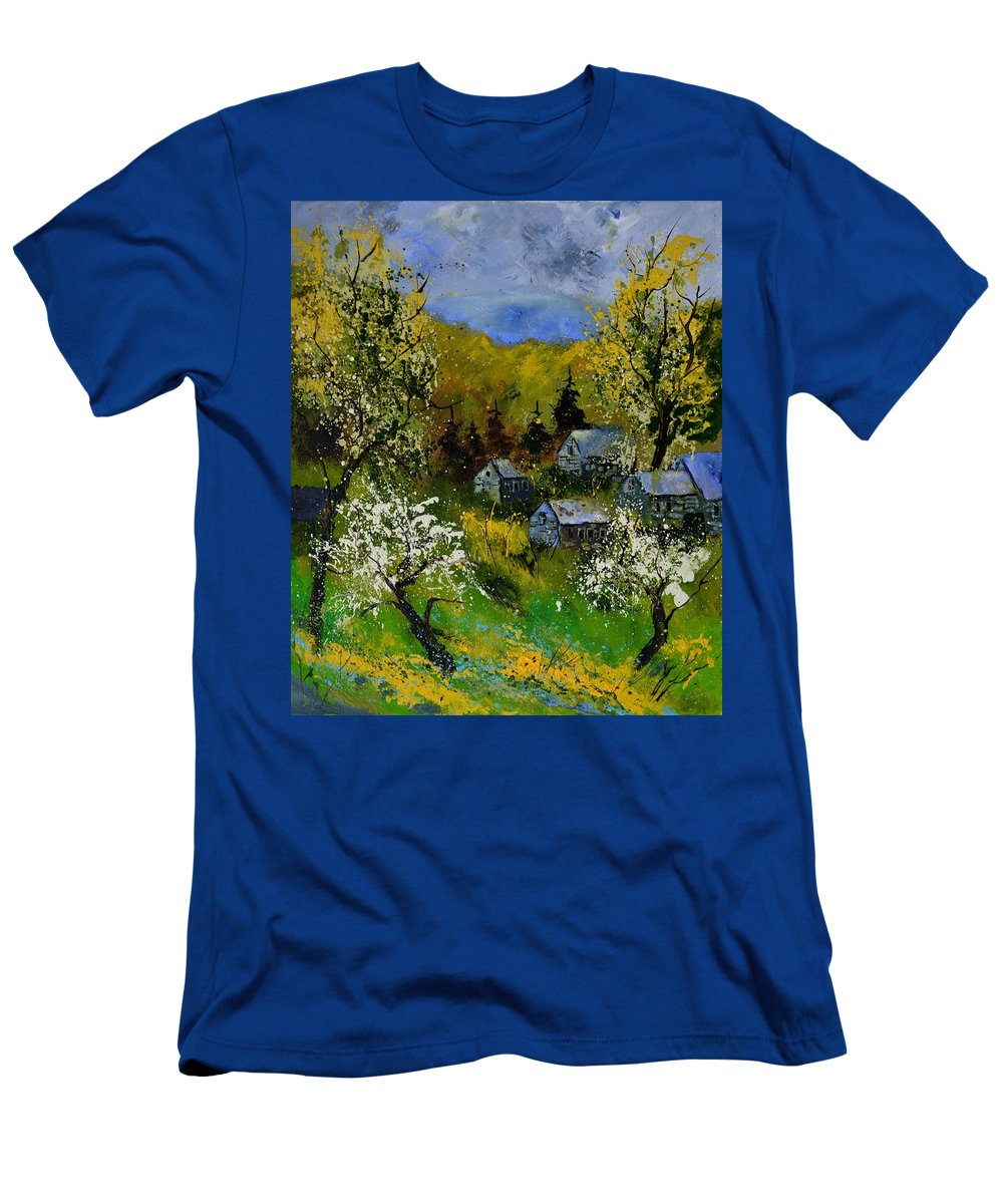 Spring T-Shirt featuring the painting Spring 6771 by Pol Ledent