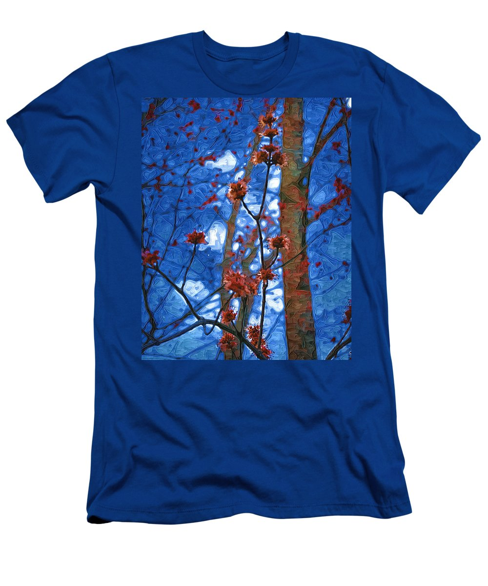 Spring Men's T-Shirt (Athletic Fit) featuring the photograph Spring Buds by Tom Reynen
