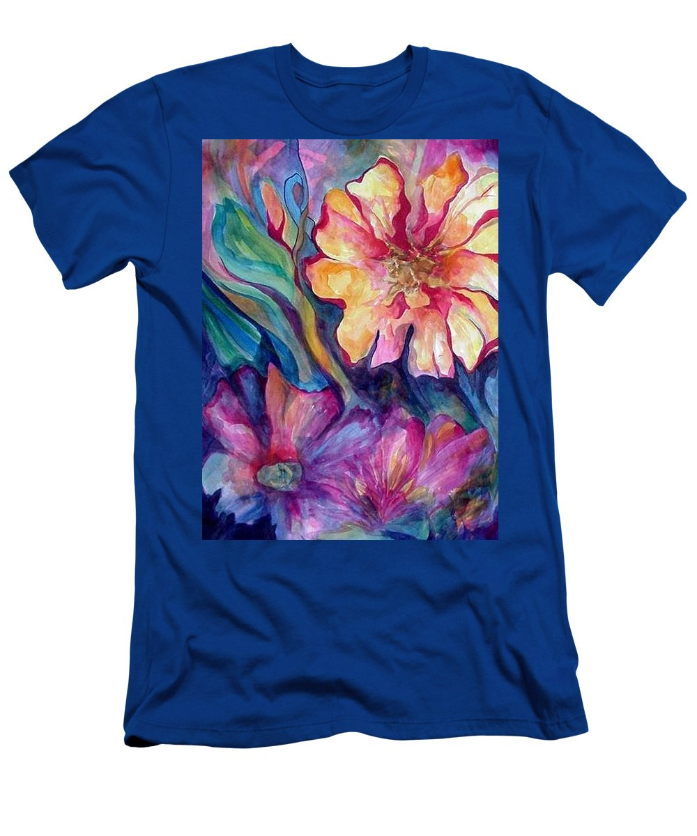 Spring T-Shirt featuring the painting Spring In My heart by Carolyn LeGrand