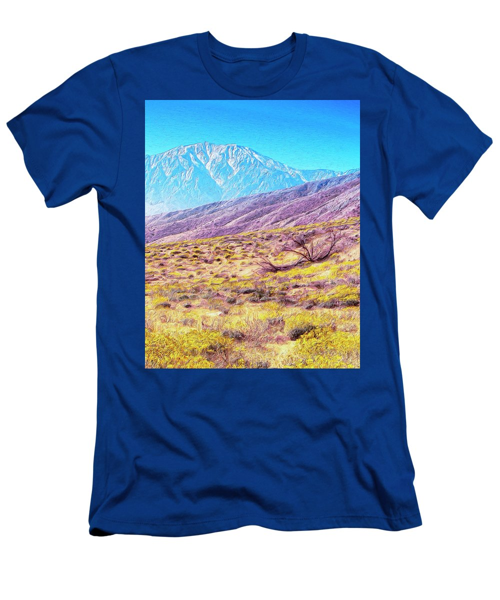 Desert Men's T-Shirt (Athletic Fit) featuring the painting Spring In Whitewater Canyon by Dominic Piperata