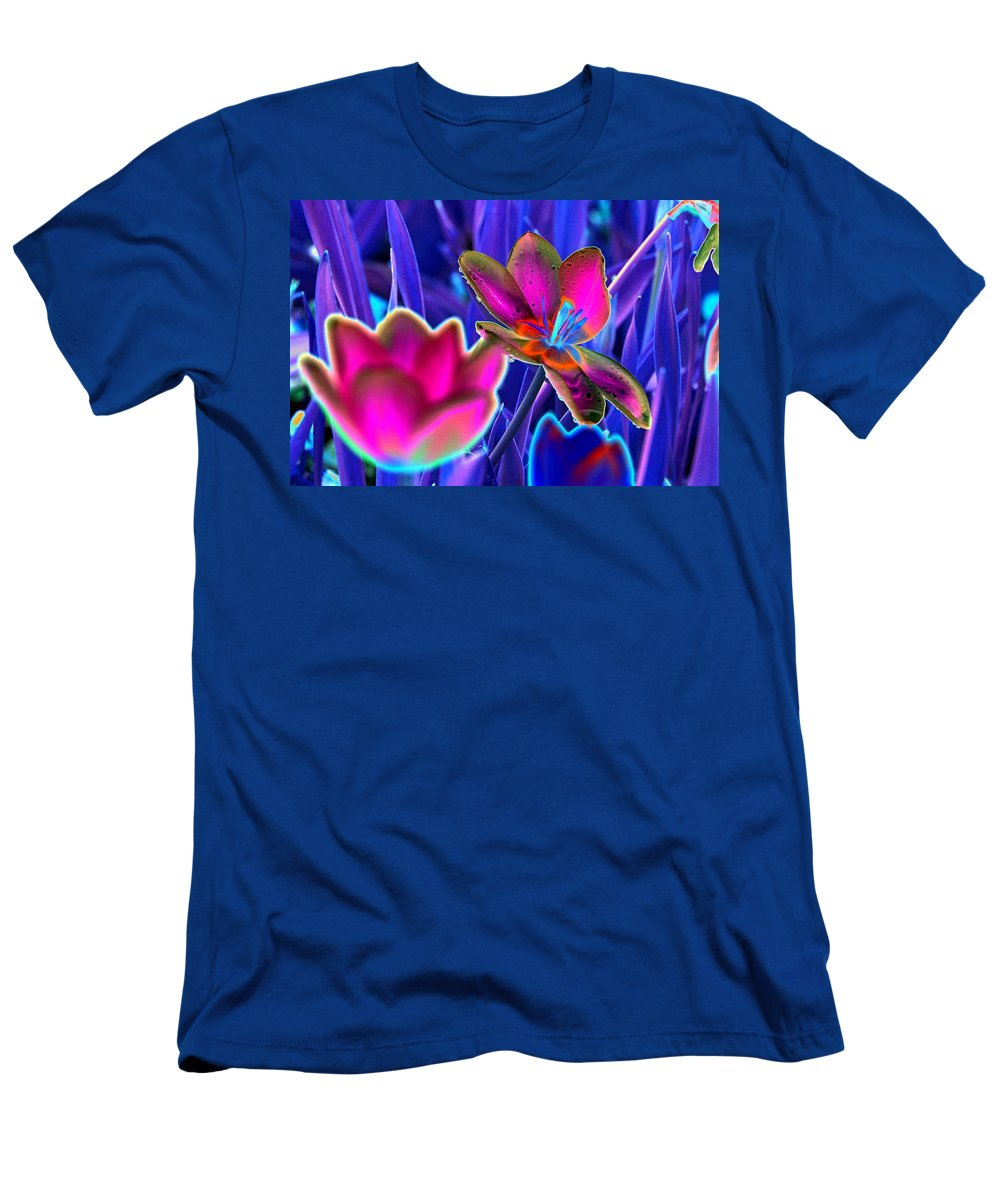 Tulip Men's T-Shirt (Athletic Fit) featuring the photograph Spring Tulips - Photopower 3151 by Pamela Critchlow