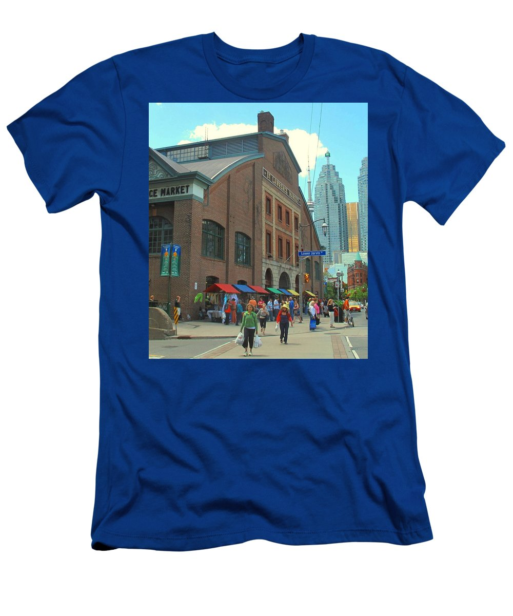 Market Men's T-Shirt (Athletic Fit) featuring the photograph St Lawrence Market by Ian MacDonald