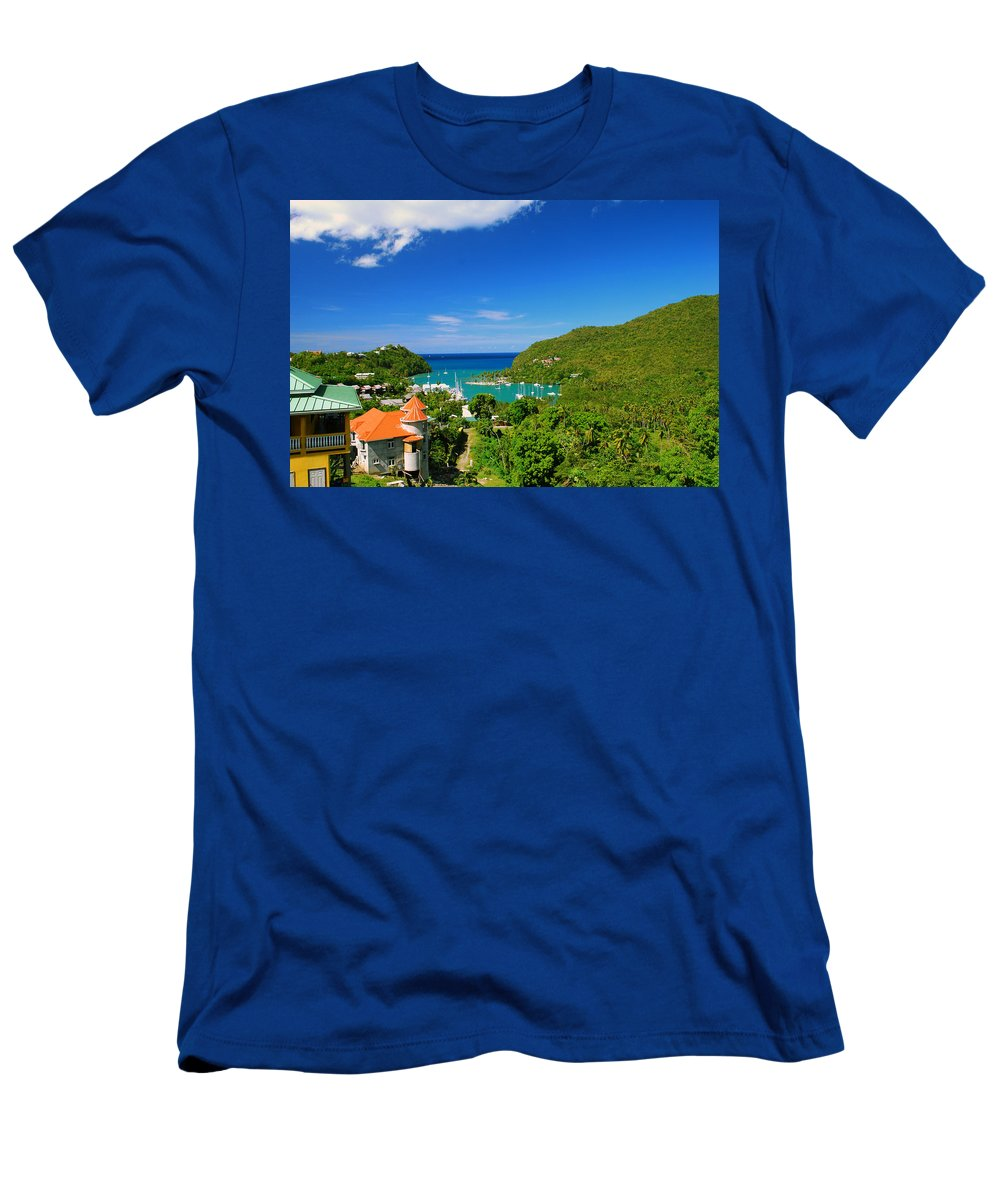 St. Lucia Men's T-Shirt (Athletic Fit) featuring the photograph St. Lucia by Gary Wonning