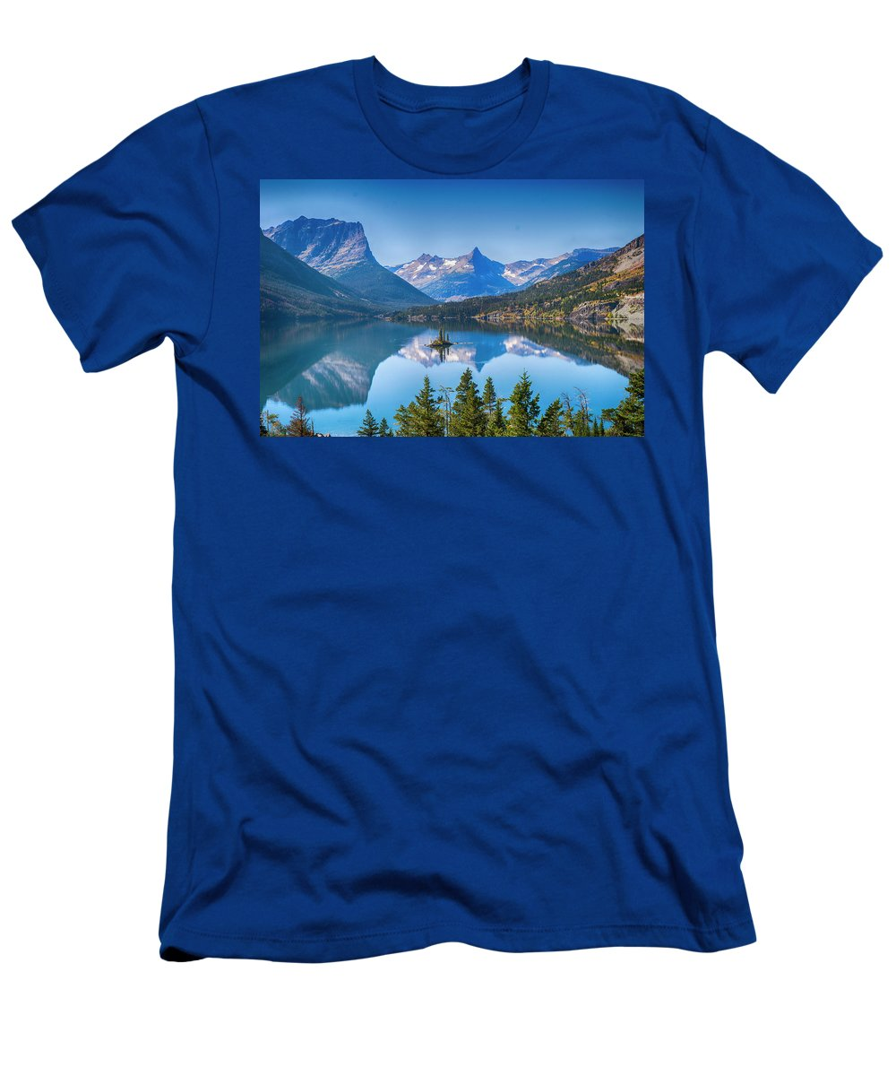 Lake T-Shirt featuring the photograph St Mary Lake by Bryan Spellman