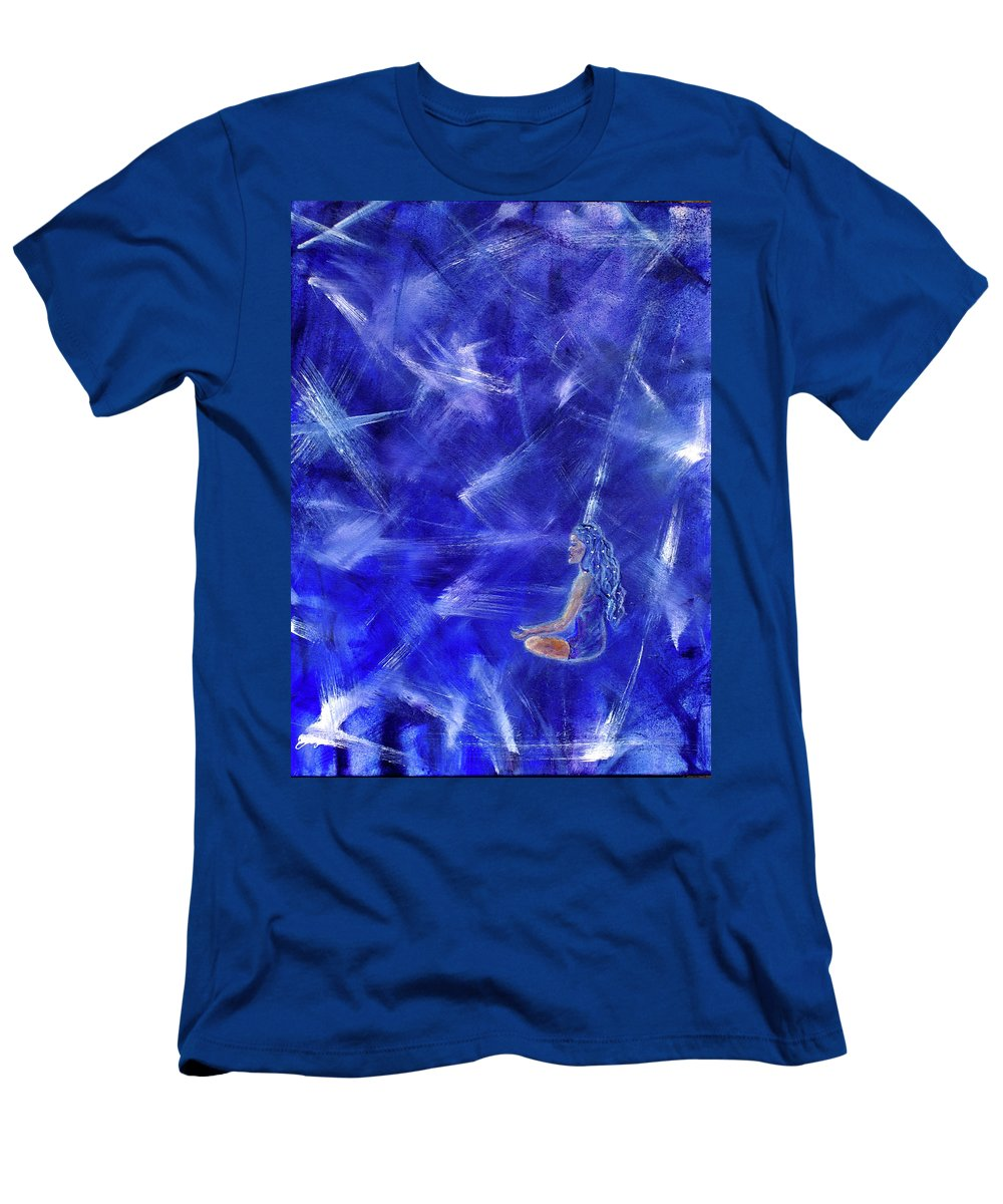 Meditation Men's T-Shirt (Athletic Fit) featuring the painting Star Burst by The Art With A Heart By Charlotte Phillips