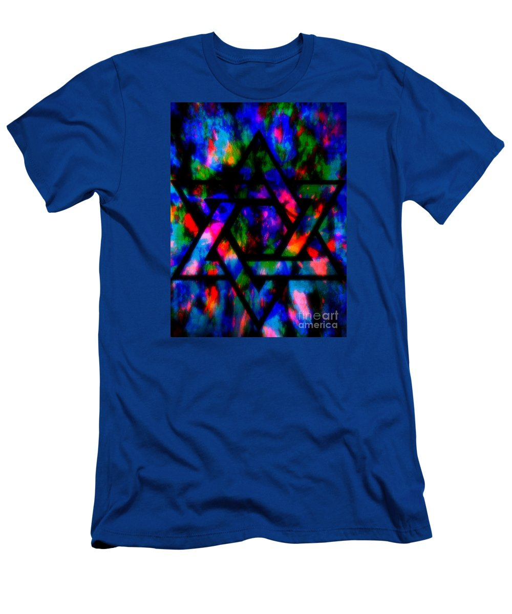 Hebrew T-Shirt featuring the painting Star Of David by Wbk