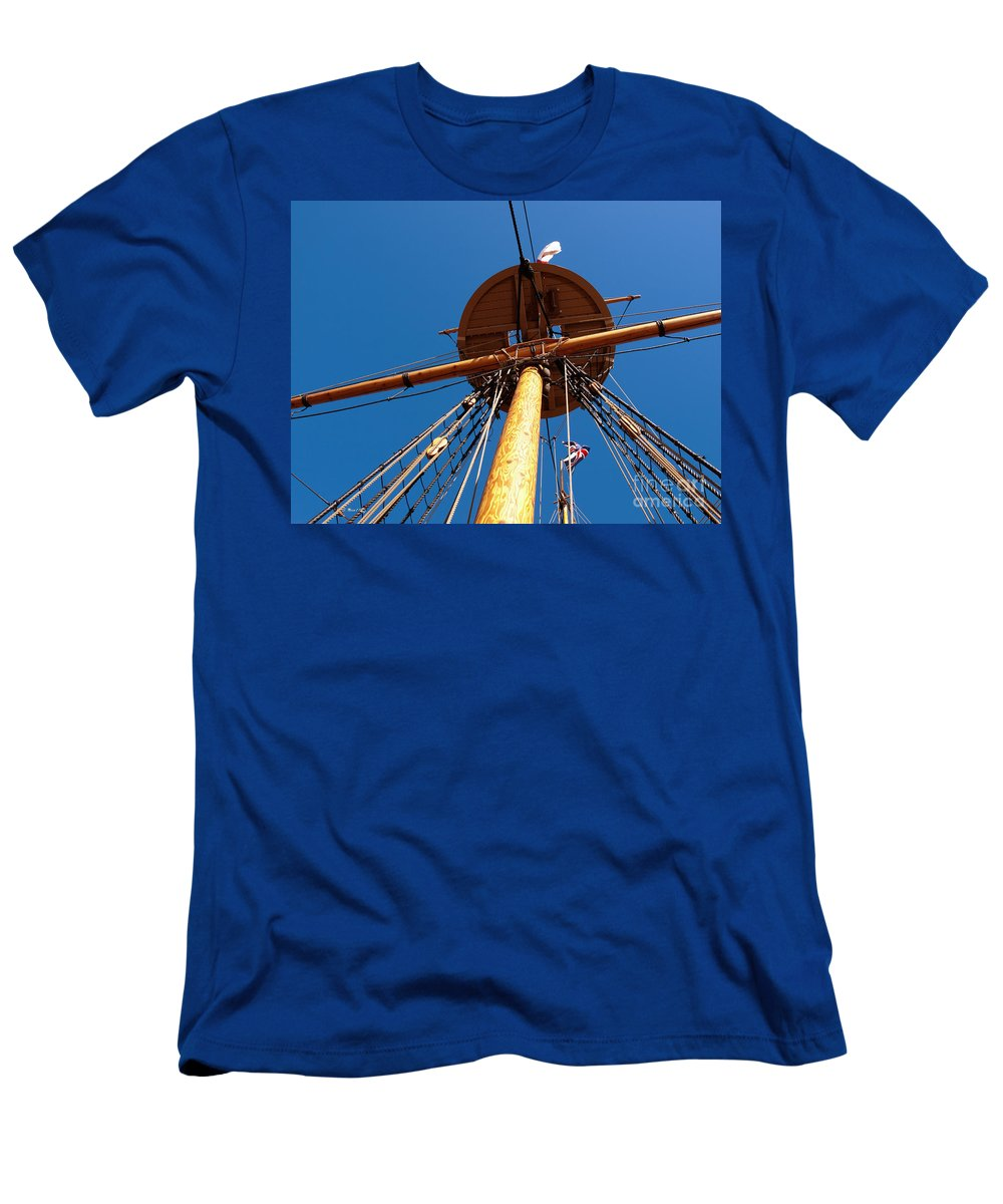 Mast Men's T-Shirt (Athletic Fit) featuring the photograph Stately by Shari Nees