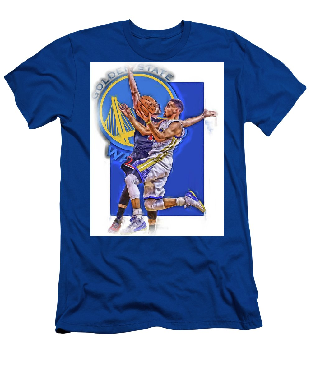 new concept af385 289d6 Stephen Curry Golden State Warriors Oil Art Men's T-Shirt (Athletic Fit)